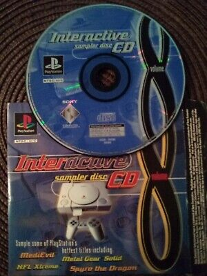 Interactive Sampler Disc CD Volume 8 Sony PlayStation 1 PS1 Demo Disc