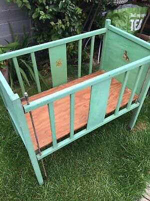 Original Vintage Childs Doll Play Cot