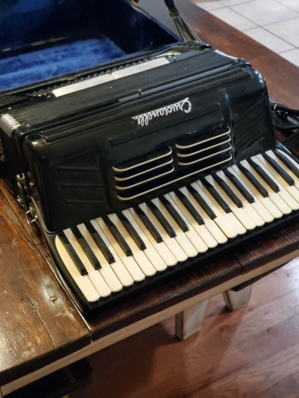 Vintage Working PANcordion Crucianelli Accordion Piano With Case