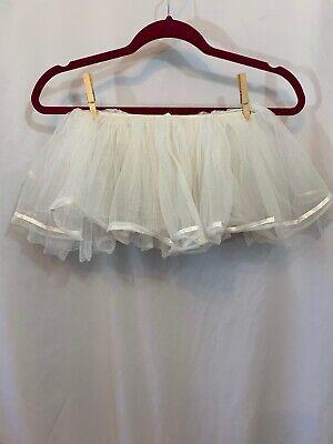 Tutu Adult Costumes (Costumes USA White Sparkle TuTu Adult ONE)