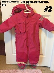 Toddler Girl snowsuits and boots