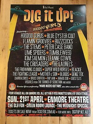 Dig It Up! (Hoodoo Gurus) - OFFICIAL tour poster 2013 - A2