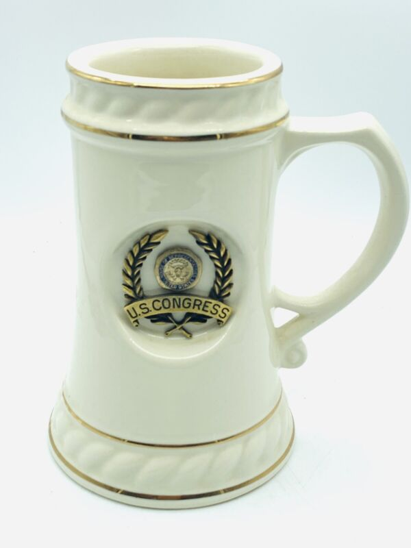 U.S. CONGRESS Gold-Trimmed Mug / Stein Official Seal of House of Representatives