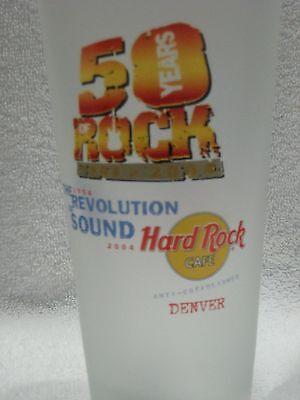 "Hard Rock Cafe/Pepsi Frosted Pint Glass Denver ""The Revolution of Sound"""