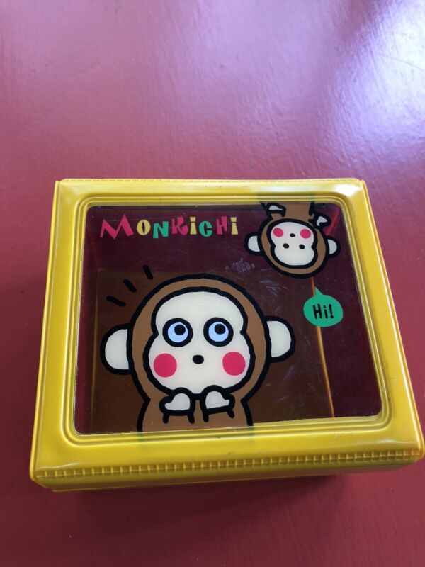Sanrio Monkichi Vinyl Snap Button Box