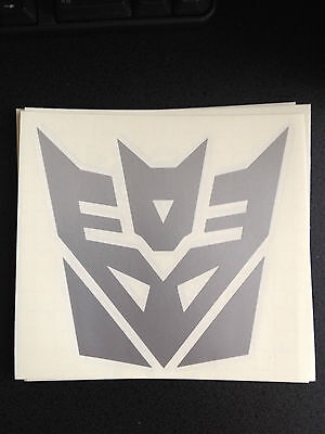 "Transformers Decepticons Sticker Decal 5"" w x 5"" h - Many Colors Available"