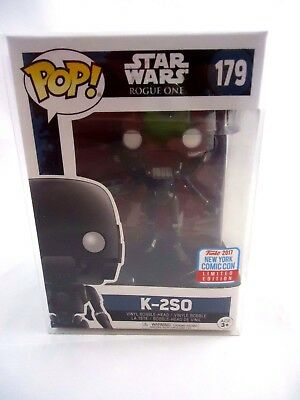 Nycc 2017 Excl Funko Pop  Star Wars K 2So W  Nycc Sticker Protector Shipped Dbl