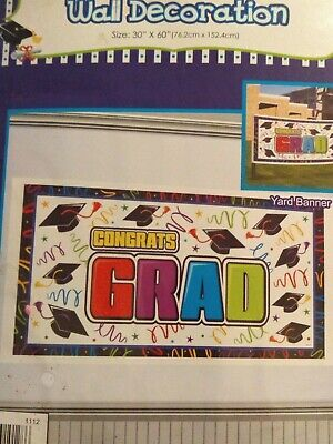 Congrats grad wall yard banner congratulations 30 x 60