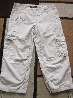 "Womens O'Neill Crop Cargo/Combat style trousers Size 30 (Waist 30"")"