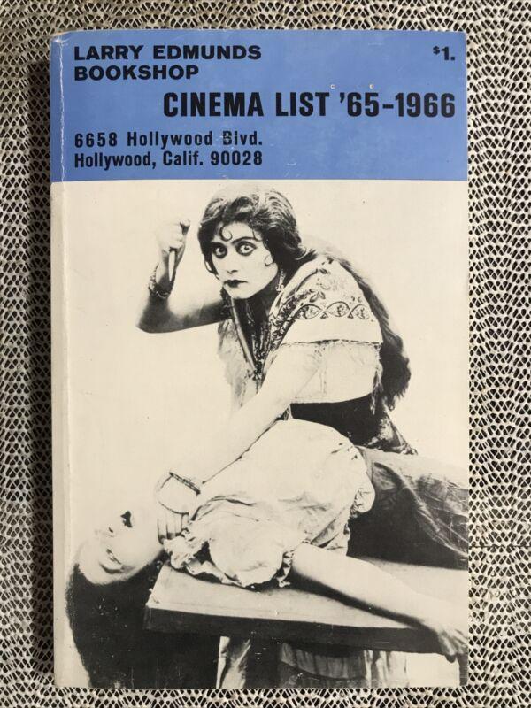 Larry Edmunds Bookshop Cinema List '65-1966 (Paperback) Very Good Condition