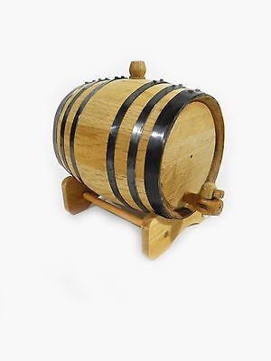 American White Oak Barrel, 2 Liter for Whiskey or Spirits for sale  Shipping to Canada