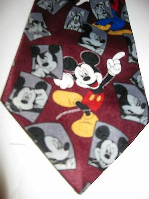 Mickey Unlimited Men's Novelty Necktie Tie Red Mickey Goofy Pluto Donald Photos (Unlimited Photos)