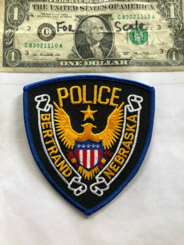 Rare Bertrand Nebraska Police Patch Un-sewn in great shape