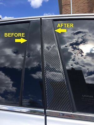 Real Carbon | Carbon Fiber Black Pillar Post For Acura RDX 2007-2012 6PC