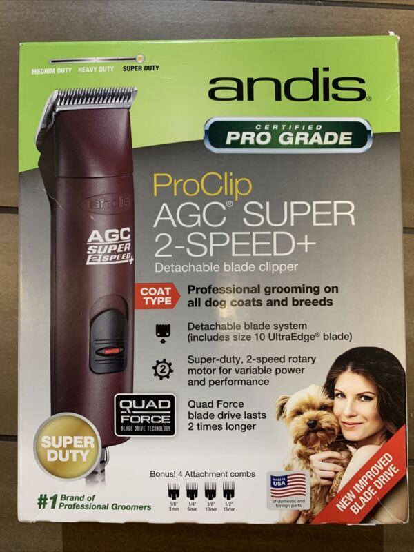 Andis ProClip AGC Super 2-Speed+ Detachable Blade Clipper Dog Brand New *Maroon*
