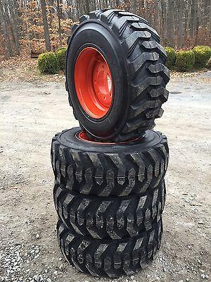 4 New 12-16.5 Deestone Skid Steer Tires Wheelsrims For Bobcat-12x16.5-12 Ply
