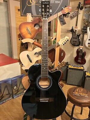 Freshman 'Chicago' CH1FBKCE Electro Acoustic Guitar, Black Finish