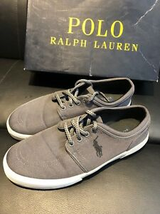 Men's Polo shoes Size 8.5. Grey with black logo