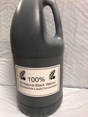 8 Oz.100% ALL NATURAL BLACK WALNUT CONCENTRATE  STAIN / DYE / INK