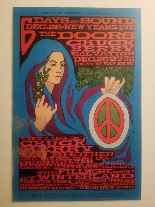 The Doors Filmore Concert Poster