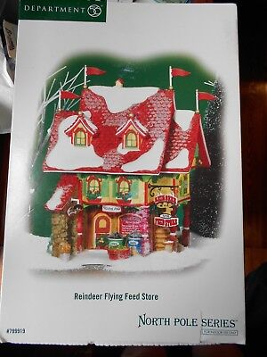 DEPT 56 NORTH POLE Village REINDEER FLYING FEED STORE NIB *Still Sealed* - Reindeer Feed