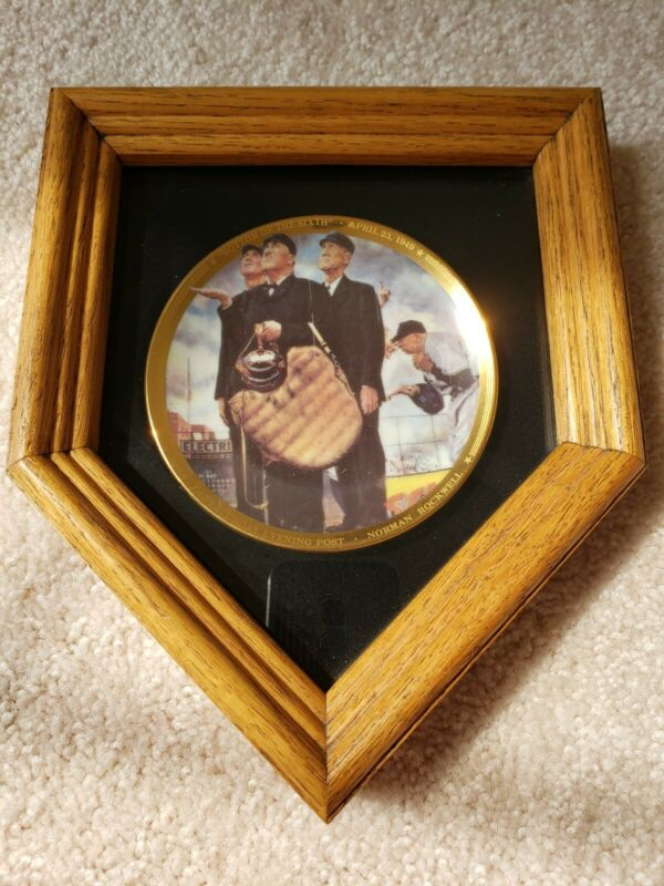 Sports Impressions Norman Rockwell Bottom Of The Sixth Mini Plate in display