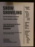Snow blowing Snow shovelling Snow Removal available