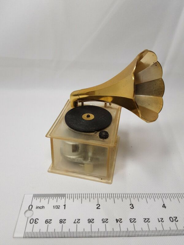 + Phonograph Gramophone music box Record Player Decorative Collectible wind up