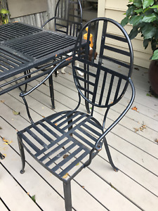 Metal patio set from the Bombay Company