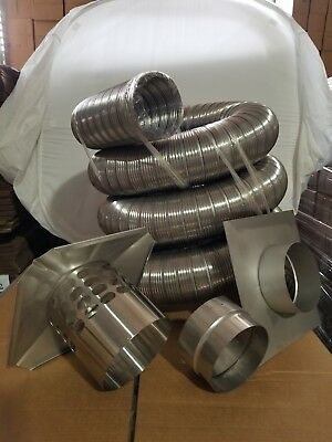 Chimney Liner Kit - 6  Inch X20 Ft  w/Flex ADP -