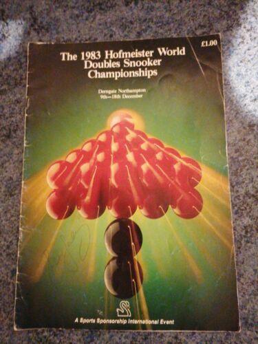 1983 Hofmeister World Doubles Snooker Programme. Davisand Meo Autographs inside.