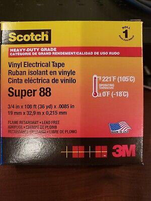 3m Scotch Super 88 Premium Vinyl Electrical Tape 34 X 10836yd 8.5 Mil