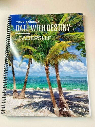 Tony Robbins Date with Destiny Workbook Manual 2019 - Brand New