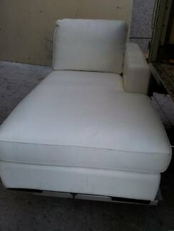 Brand new white leather Freedom Furniture chaise section Milperra Bankstown Area Preview