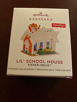 2019 Hallmark Miniature Fisher Price LIL SCHOOL HOUSE Keepsake Ornament Mini