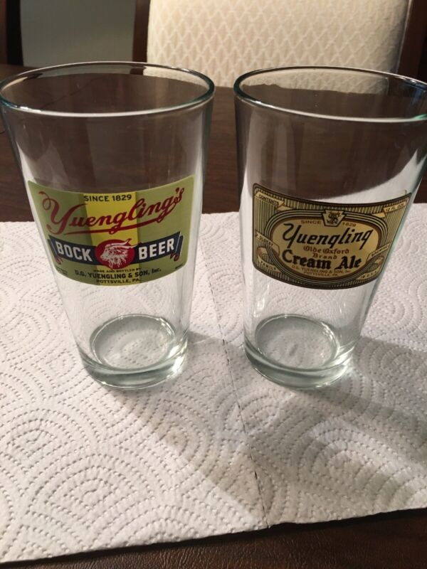 YUENGLING PINT BEER (2)GLASSES