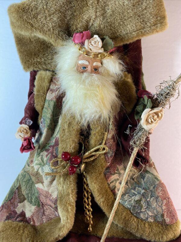 Vintage Santa Stocking Father Christmas St Nick Saint Nicholas Kris Kringle