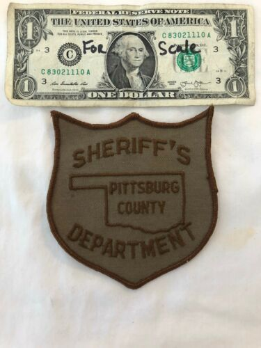 Rare Old Pittsburg County Sheriffs Dept.Oklahoma Police Patch un-sewn Patches