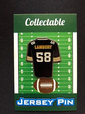 Pittsburgh Steelers Jack Lambert jersey lapel pin-STEEL Collectable-#1 Seller, used for sale  Shipping to Canada