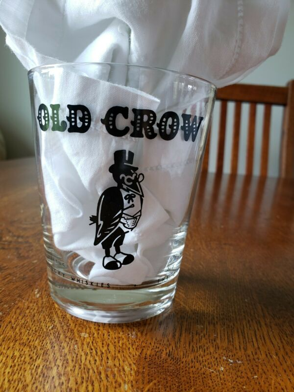 Old Crow Whiskey Glass 16oz