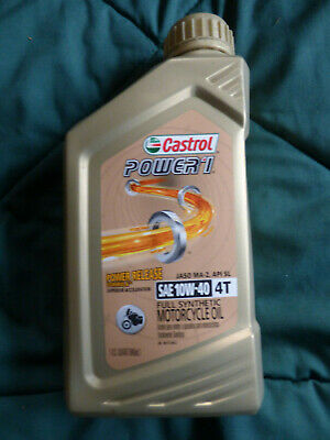 Best Extended Motorcycle Gold Castrol 10W-40 4T Full Synthetic Motor Oil 1