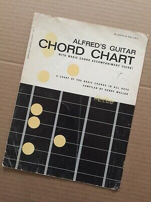Alfred's Guitar Chord Chart With Magic Chord Accompaniment Guide (Chart)