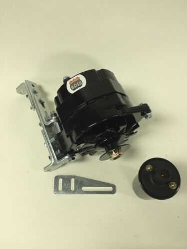new willys jeep alternator one wire black 12v 65a, 5/8 ... willys jeep cj5 wiring diagram #4