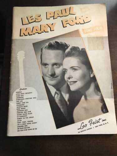 LES PAUL MARY FORD Sheet Music SONG FOLIO Piano And Guitar Tab - $6.99