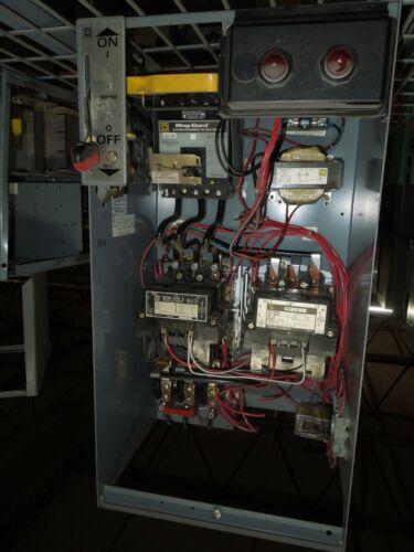 """Square D Model 5 Size 3 50hp 480V Reversing Starter Breaker Disconnect 48""""T"""
