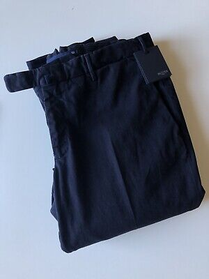 Incotex Drawstring Trousers Navy pants blue 52