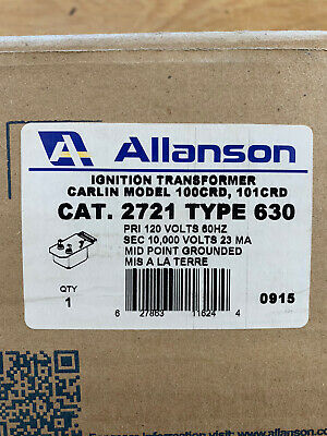 Allanson Ignition Transformer Cat. 2721 Type 630