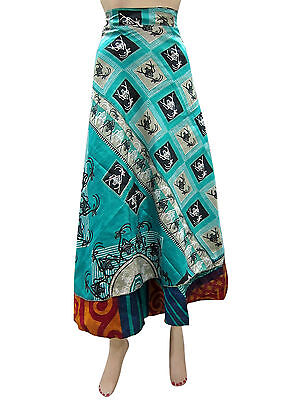 Silk Sari Magic Long Wrap Skirt Ebay