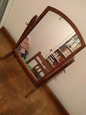 Antique Oak Dressing Table Mirror