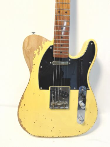 Haze TLB Relic Tele. Electric Guitar-Solid Ash Body,Maple Neck+Fretboard+Gig Bag
